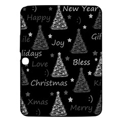 New Year Pattern   Gray Samsung Galaxy Tab 3 (10 1 ) P5200 Hardshell Case