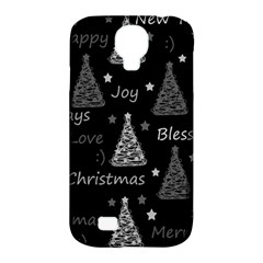 New Year Pattern   Gray Samsung Galaxy S4 Classic Hardshell Case (pc+silicone)