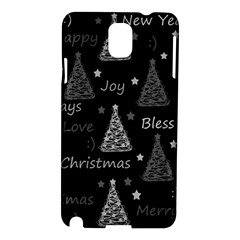 New Year Pattern   Gray Samsung Galaxy Note 3 N9005 Hardshell Case