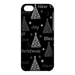 New Year Pattern   Gray Apple Iphone 5c Hardshell Case