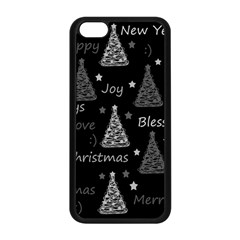 New Year Pattern   Gray Apple Iphone 5c Seamless Case (black)