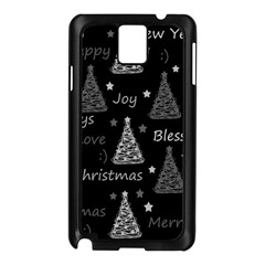New Year Pattern   Gray Samsung Galaxy Note 3 N9005 Case (black)