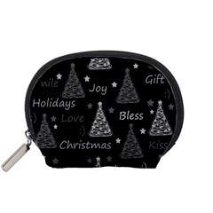 New Year Pattern   Gray Accessory Pouches (small)