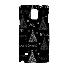 New Year Pattern   Gray Samsung Galaxy Note 4 Hardshell Case