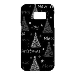 New Year pattern - gray Samsung Galaxy S7 Hardshell Case