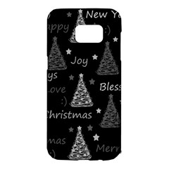 New Year pattern - gray Samsung Galaxy S7 Edge Hardshell Case