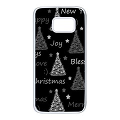 New Year pattern - gray Samsung Galaxy S7 White Seamless Case