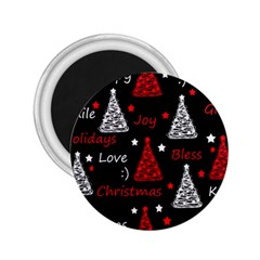 New Year pattern - red 2.25  Magnets