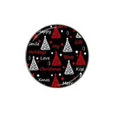 New Year pattern - red Hat Clip Ball Marker (10 pack)
