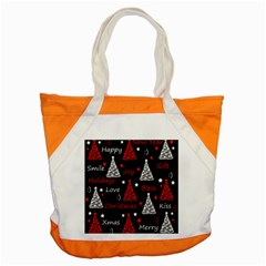 New Year pattern - red Accent Tote Bag