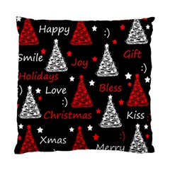 New Year pattern - red Standard Cushion Case (One Side)