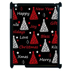 New Year Pattern   Red Apple Ipad 2 Case (black)
