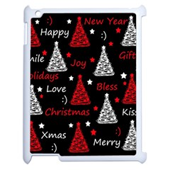 New Year Pattern   Red Apple Ipad 2 Case (white)