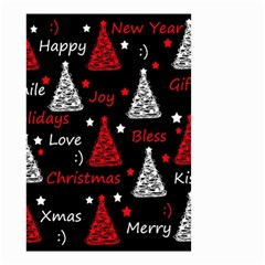 New Year Pattern   Red Small Garden Flag (two Sides)