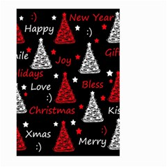 New Year Pattern   Red Large Garden Flag (two Sides)