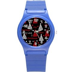 New Year Pattern   Red Round Plastic Sport Watch (s)