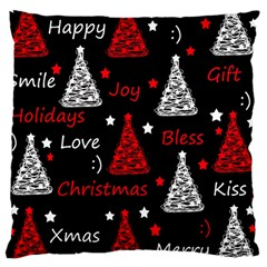 New Year Pattern   Red Large Cushion Case (two Sides)