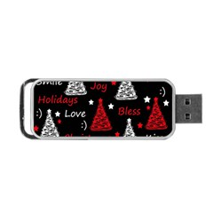 New Year Pattern   Red Portable Usb Flash (two Sides)