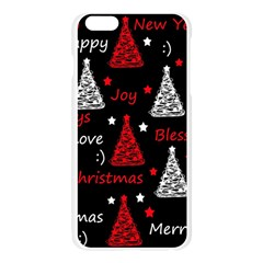 New Year pattern - red Apple Seamless iPhone 6 Plus/6S Plus Case (Transparent)