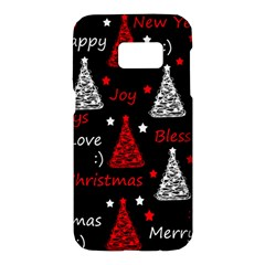 New Year pattern - red Samsung Galaxy S7 Hardshell Case