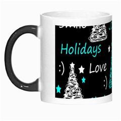 New Year pattern - cyan Morph Mugs
