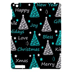 New Year Pattern   Cyan Apple Ipad 3/4 Hardshell Case
