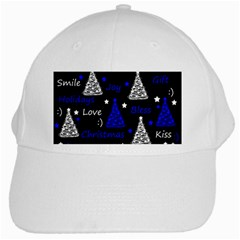 New Year pattern - blue White Cap