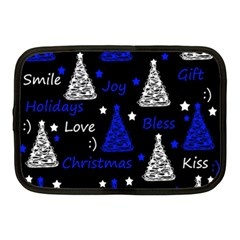 New Year pattern - blue Netbook Case (Medium)