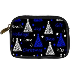 New Year pattern - blue Digital Camera Cases