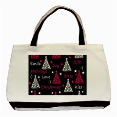 New Year Pattern   Magenta Basic Tote Bag (two Sides)