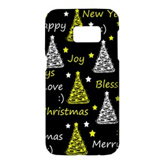 New Year pattern - yellow Samsung Galaxy S7 Hardshell Case