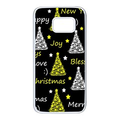 New Year pattern - yellow Samsung Galaxy S7 White Seamless Case
