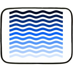Water White Blue Line Double Sided Fleece Blanket (mini)