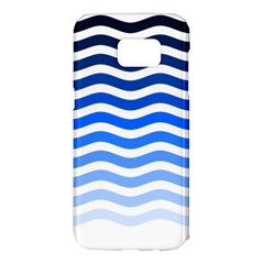 Water White Blue Line Samsung Galaxy S7 Edge Hardshell Case