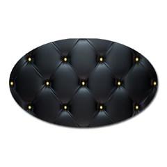 Black Skin Oval Magnet