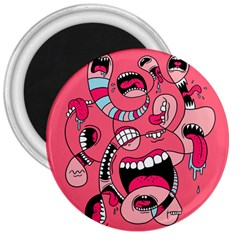 Big Mouth Worm 3  Magnets