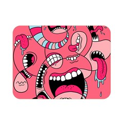 Big Mouth Worm Double Sided Flano Blanket (mini)