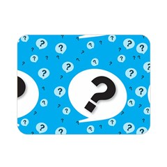 Blue Question Mark Double Sided Flano Blanket (mini)