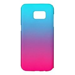 Blue Pink Purple Samsung Galaxy S7 Edge Hardshell Case