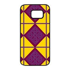 Complexion Purple Yellow Samsung Galaxy S7 edge Black Seamless Case