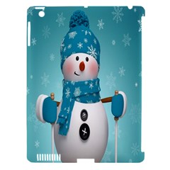 Cute Snowman Apple Ipad 3/4 Hardshell Case (compatible With Smart Cover)