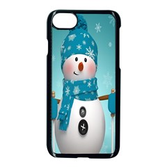 Cute Snowman Apple Iphone 7 Seamless Case (black)