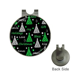 New Year Pattern   Green Hat Clips With Golf Markers