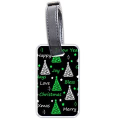 New Year pattern - green Luggage Tags (One Side)