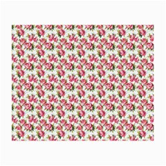 Gorgeous Pink Flower Pattern Small Glasses Cloth (2-Side)