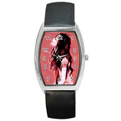 Day Dreaming Anime Girl Barrel Style Metal Watch