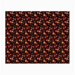 Exotic Colorful Flower Pattern  Small Glasses Cloth (2-Side)
