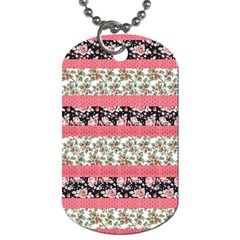 Cute Flower Pattern Dog Tag (Two Sides)