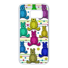 Teddy bear Samsung Galaxy S7 White Seamless Case