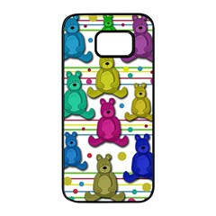 Teddy bear Samsung Galaxy S7 edge Black Seamless Case